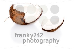 Fresh coconut on white background - franky242 photography