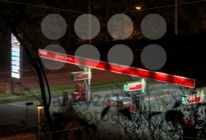 Gas-station-at-night