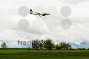 Germanwings airplane approaching Stuttgart - franky242 photography