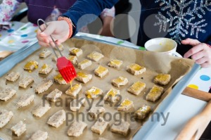 Girl decorating cookies for Christmas - franky242 photography