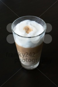 Glass with classic latte coffee - franky242 photography