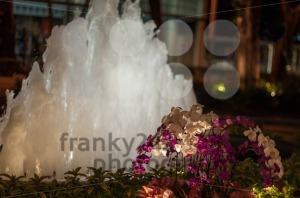 Glowing Night Fountain - franky242 photography