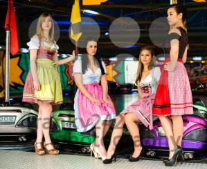 Gorgeous young women at German funfair - franky242 photography