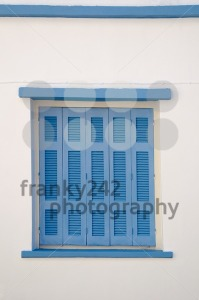 Greek blue window shutters - franky242 photography