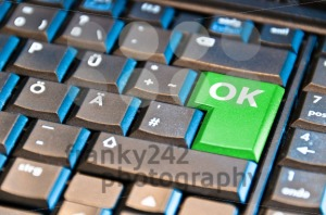 Green-OK-Computer-Key
