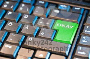 Green-Okay-Computer-Key