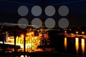 Hamburg-Harbour-At-Night