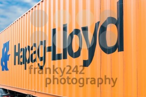 Hapag Lloyd container on a trailer - franky242 photography