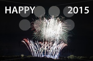 Happy New Year 2015 with fireworks - franky242 photography