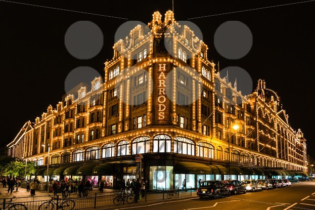 Harrods department store in London at night - franky242 photography