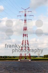 Huge-Power-Pole-on-blue-sky-background