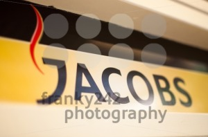 Jacobs logo in a cafe - franky242 photography