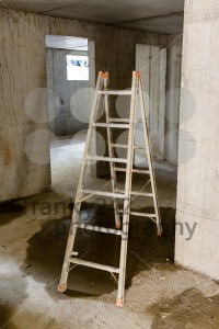 Ladder in rooms on a construction site - franky242 photography