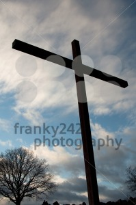 Large Cross Over Sky With Clouds - franky242 photography
