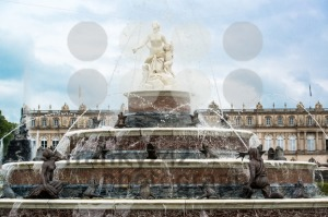 Latona-Fountain-in-castle-Herrenchiemsee