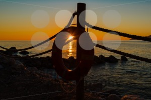 Lifebuoy and sundown - franky242 photography