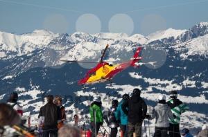 MONTAFON, AUSTRIA – FEBRUARY 29 :  Skiing accident - franky242 photography