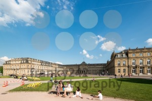 Main square in Stuttgart (Germany) city center - franky242 photography