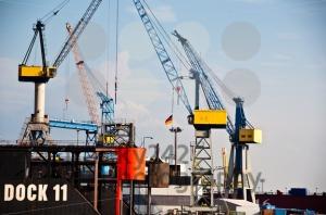 Massive Dry-Dock in Hamburg Harbor, Germany - franky242 photography