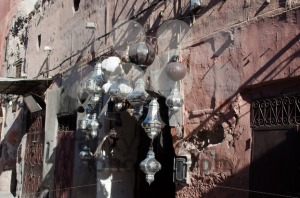 Metal lamps in Moroccan market - franky242 photography