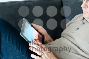 Middle-aged man with digital tablet pc - franky242 photography