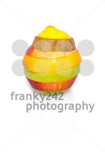 Mixed fruit on white - franky242 photography