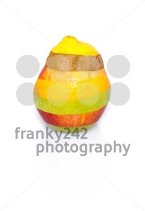 Mixed fruit on white – perfect shape, no cuts visible - franky242 photography