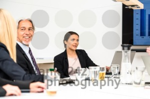 Mixed group in business meeting - franky242 photography