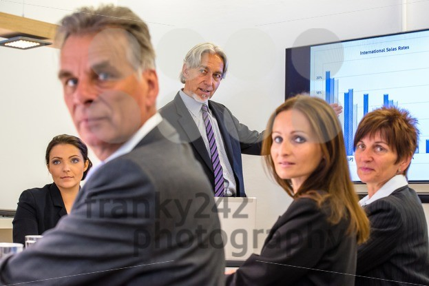 Mixed group in business meeting looking at you - franky242 photography