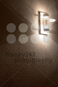 Modern-lamp-on-concrete-wall