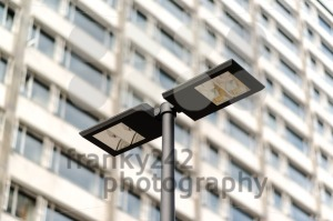 Modern streetlamp and concrete building - franky242 photography