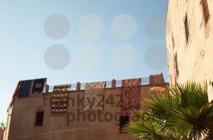 Moroccan building with Berber carpets - franky242 photography