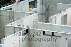 New walls being erected on a construction site - franky242 photography