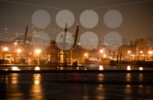 Nightly-container-harbour