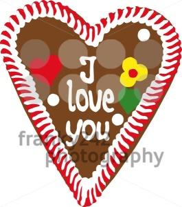 Oktoberfest Gingerbread Heart - franky242 photography
