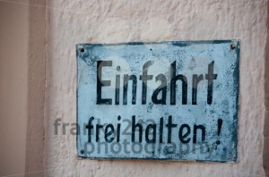 Old German No Parking Sign - franky242 photography