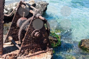 Old Winch at the Harbour - franky242 photography