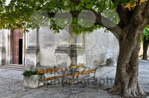 Old-church-benches