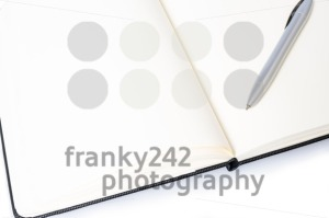 Open notebook with pen and space for your text - franky242 photography
