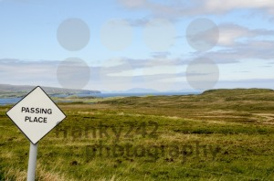 Passing Place Sign, Isle of Skye, Scotland - franky242 photography