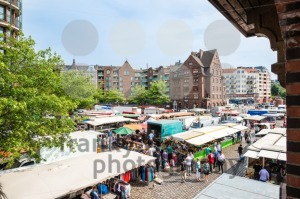 People enjoying Fish Market by the harbor in Hamburg, Germany - franky242 photography