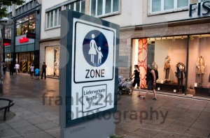 People walking in urban shopping area in Stuttgart, Germany - franky242 photography