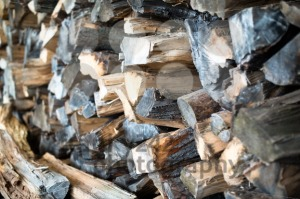 Pile of chopped firewood - franky242 photography