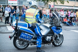 Police on motorbike during Christopher Street Day 2014 in Stuttgart - franky242 photography