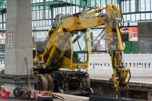 Rail excavator at Stuttgart main railway station – S21 - franky242 photography