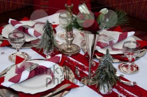Red Christmas Table - franky242 photography