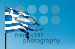 Rundown Greece Flag - franky242 photography