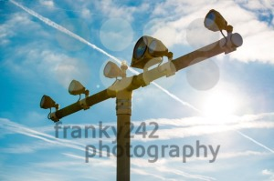 Runway lights at the airport in sunlight - franky242 photography