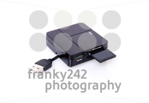 SD card and reader on white - franky242 photography