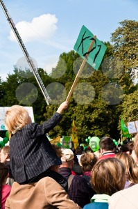 STUTTGART – SEPTEMBER 18: Demonstration against the S21 plans - franky242 photography